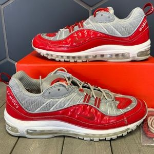 Used Nike x Supreme Air Max 98 Red Shoe Size 11